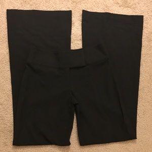 Bebe Black Wide Leg Flare Work Dress Pants